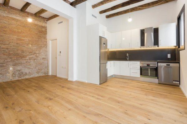 Espectacular piso de diseño,  a estrenar, 2 hab. dobles, 2 baños completos (Montjuic/Poble Sec)