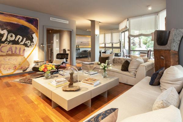 4.000 €/mes ESPECTACULAR PISO DE 162 m2 4 HAB 3 BAÑOS + ASEO (C/CAVALLERS - PEDRALBES)